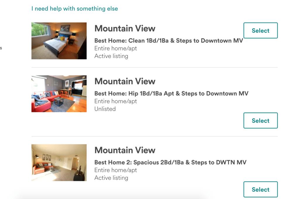 airbnb phone numbers