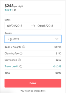 Airbnb cleaning fee