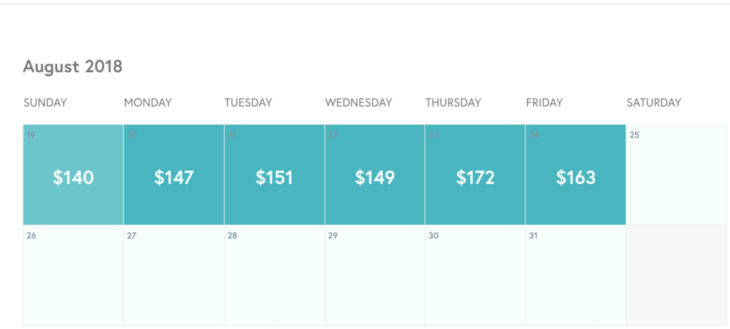 airbnb pricing