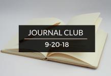 Journal Club 9-20-18