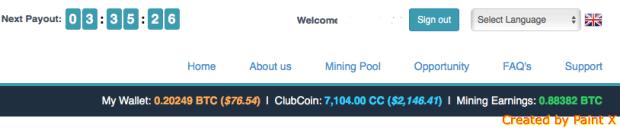 Bitclub Network bitcoin income