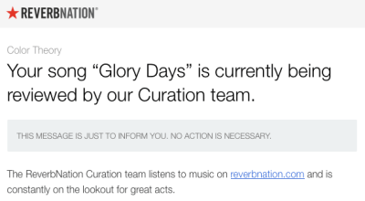 ReverbNation Curation Team email