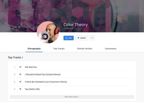 Color Theory on Deezer