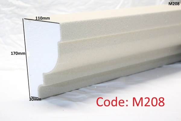 170mm x 110mm curved stepped moulding in sandstone