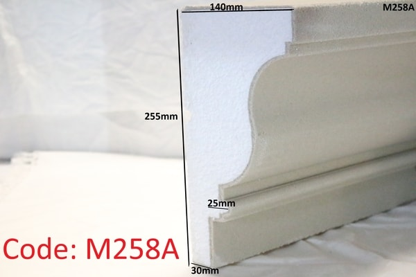 225mm x 140mm with no upstand in sandstone