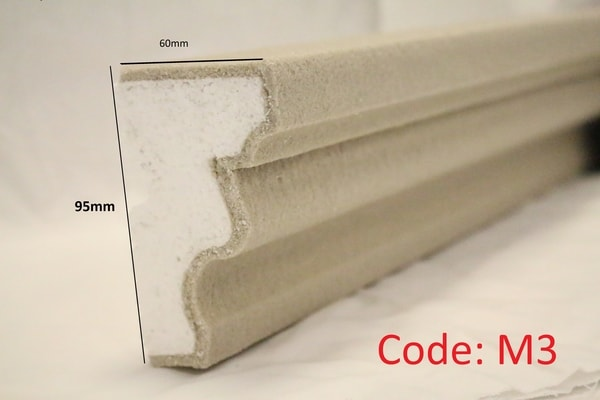 95mm String Course Moulding in sandstone