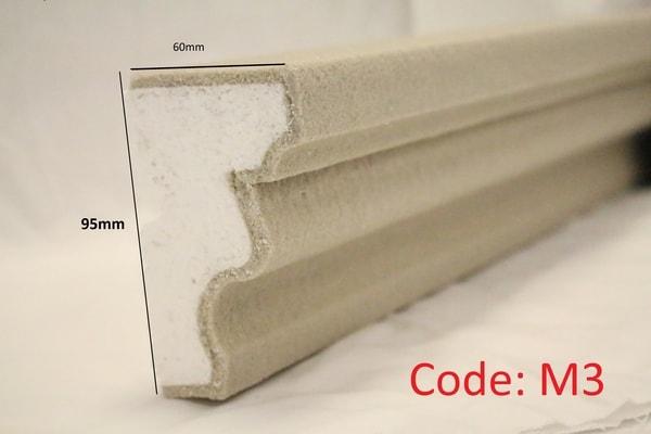 95mm String Course Moulding in sandstone