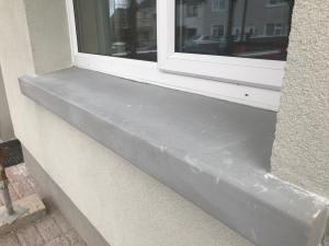Hybrid window sill installed