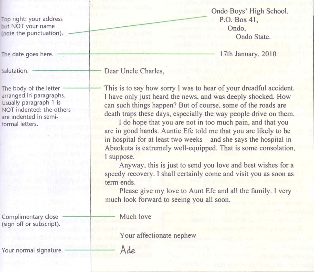 Grammar clinic letter writing semi formal letter passnownow sample of semi formal letter altavistaventures Images