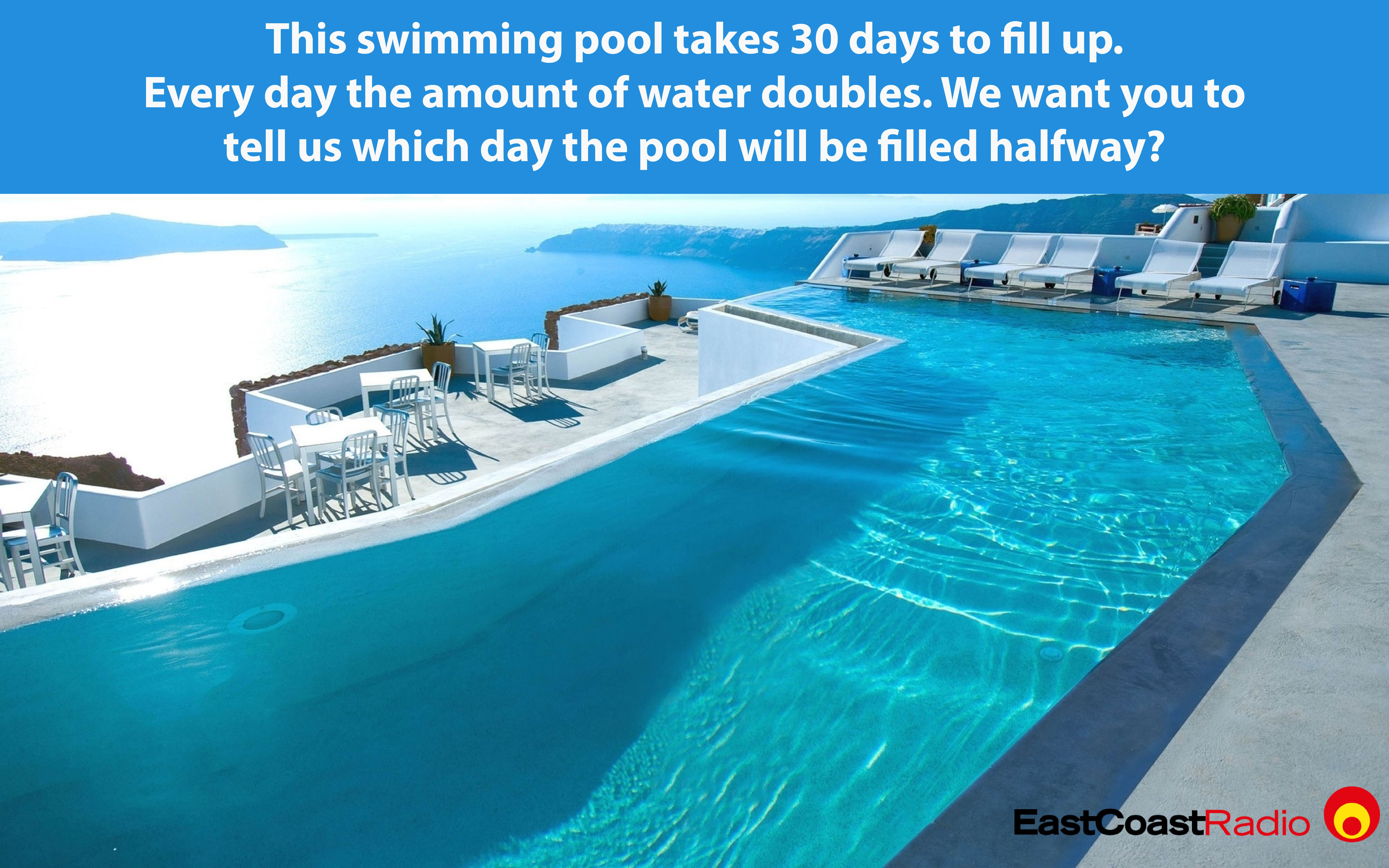 Brain Teaser How Long Will It Take To Fill Up This Swimming Pool