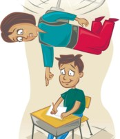 300 dpi John Alvin color illustration of parent hovering like a helicopter over child at school desk. Ran with story about parents who are overly involved in their children's education may actually be setting them up for failure in college. The Fresno Bee 2007  KEYWORDS: hovering parent illustration overbearing overinvolved hyperparenting school child children homework helicopter parenting, 05008000, 05010001, krtteacher teacher, learning, pupil, student, teaching, upbringing, 05000000, EDU, krteducation education, 2007, krt2007, krtnational national, krt, mctillustration, fr contributed alvin fr contributor coddington mct mct2007 2007