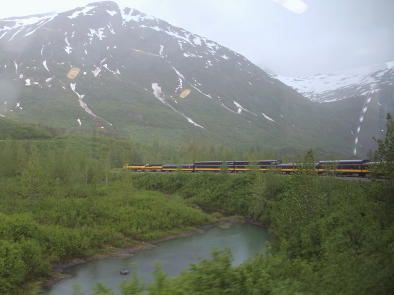Alaska Railroad trip from Seward to Anchorage