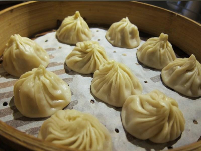 Soup dumplings from Din Tai Fung Dumpling House