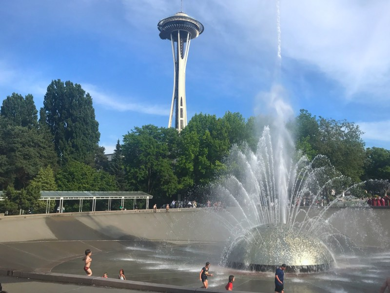 Space Needle and International Fountain