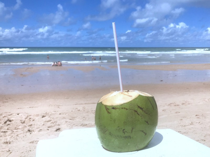 Flavors to taste in Salvador, Brazil - fresh coconut water