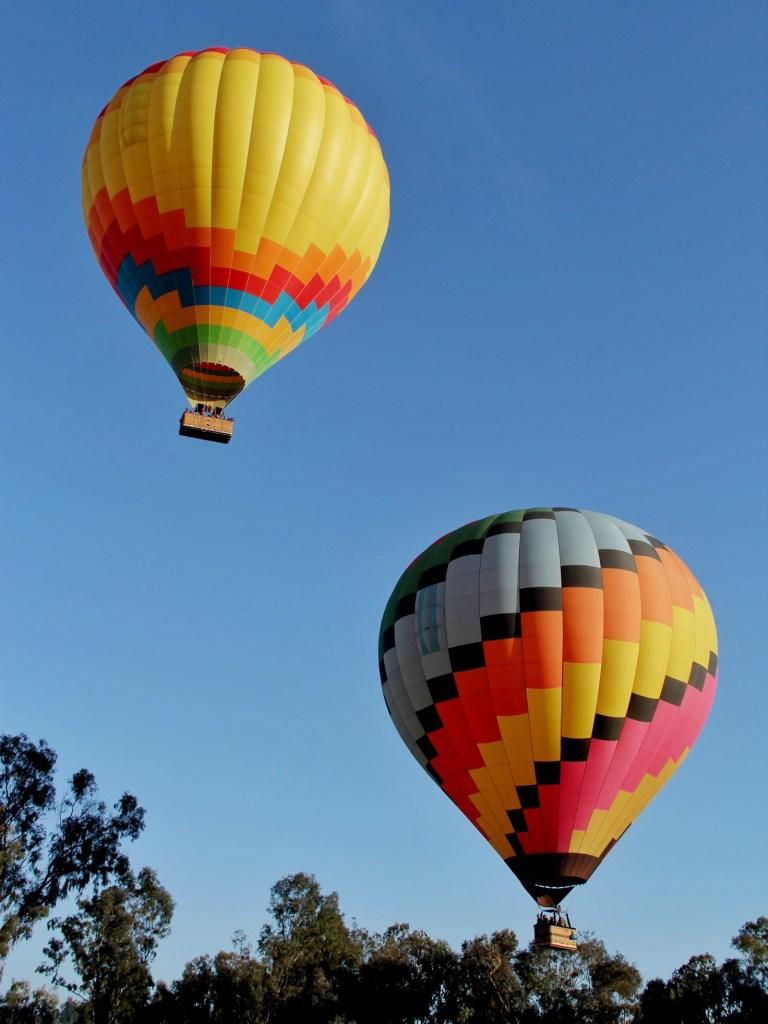 Hot air ballon ride in Albuquerque, New Mexico