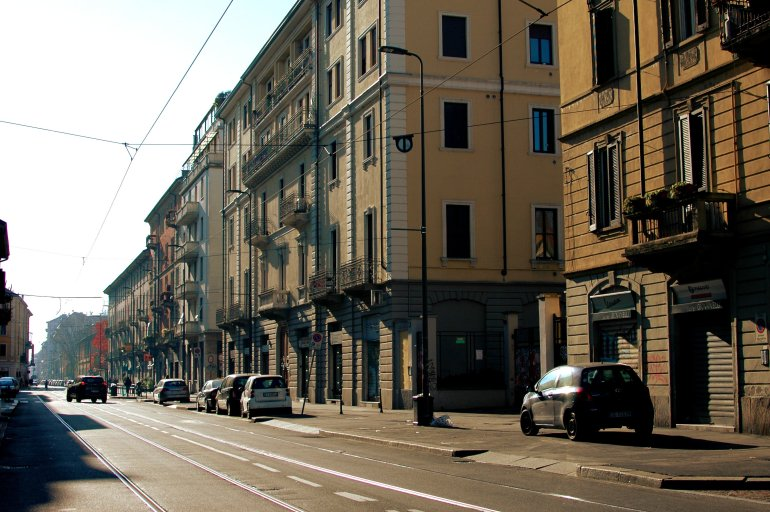 Sunny street in Milan - Travel Notes on Milan, Italy