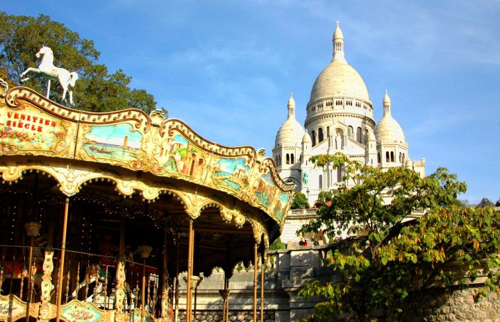 16 Cool Things to Do in Paris - Carousel at Sacre Coeur, Montmartre