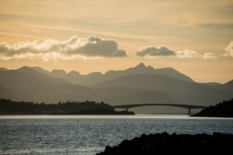 Bridge and Mountains Isle of Skye - 30 Photos of the Isle of Skye to Ignite Your Wanderlust