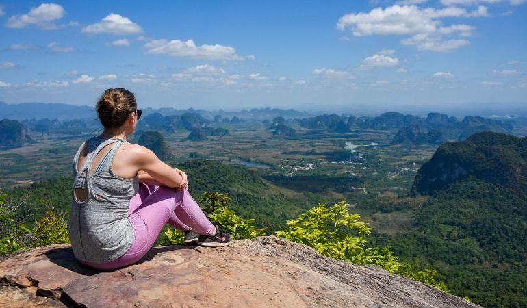 Hiking to Khao Ngon Nak Viewpoint, Krabi, Thailand