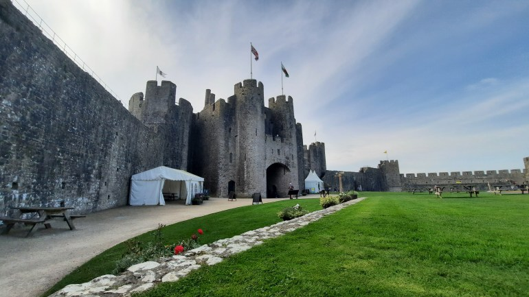 Pembroke Castle in Pembrokeshire, South Wales