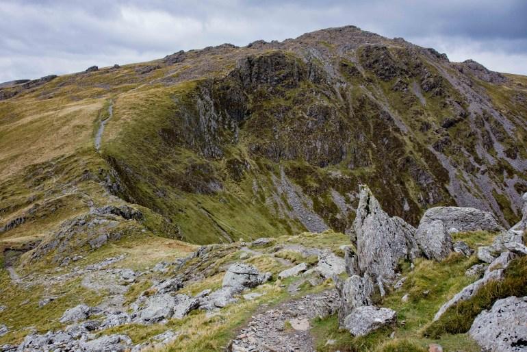 Minffordd Path ride line from Craig Cwm Amarch to Cadair Idris
