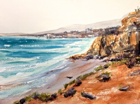 At the Beach by Georgia Mansur, watercolour