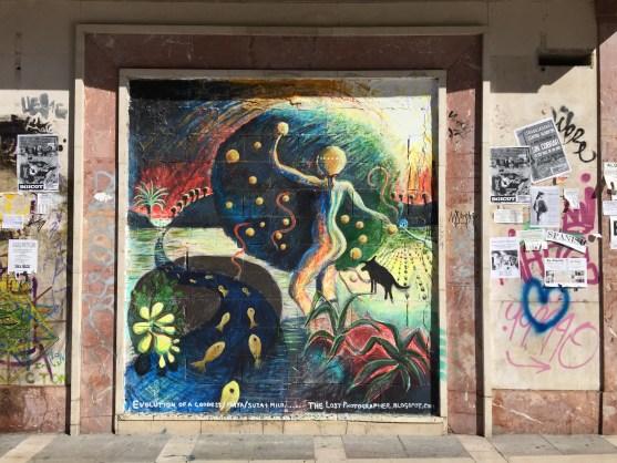 Street art in Plaza Nueva