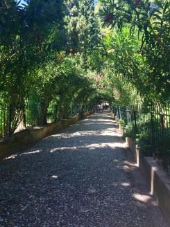 The entryway into El Generalife