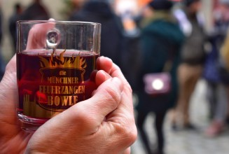 Glühwein from the Christmas markets at Munich