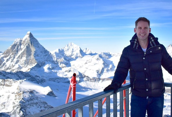 Picture of me at Matterhorn Glacier Paradise viewing platform, Zermatt