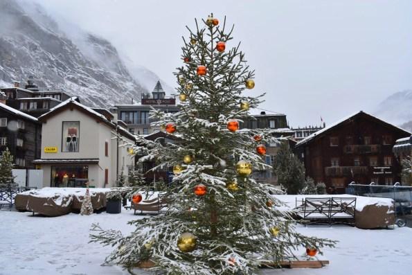 A Christmas tree in Zermatt
