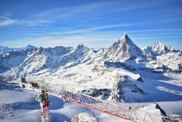 Picture of the view from the Matterhorn Glacier Paradise viewing platform, Zermatt