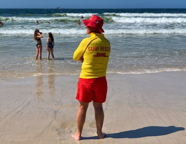 Lifeguard at Main Beach, Byron Bay