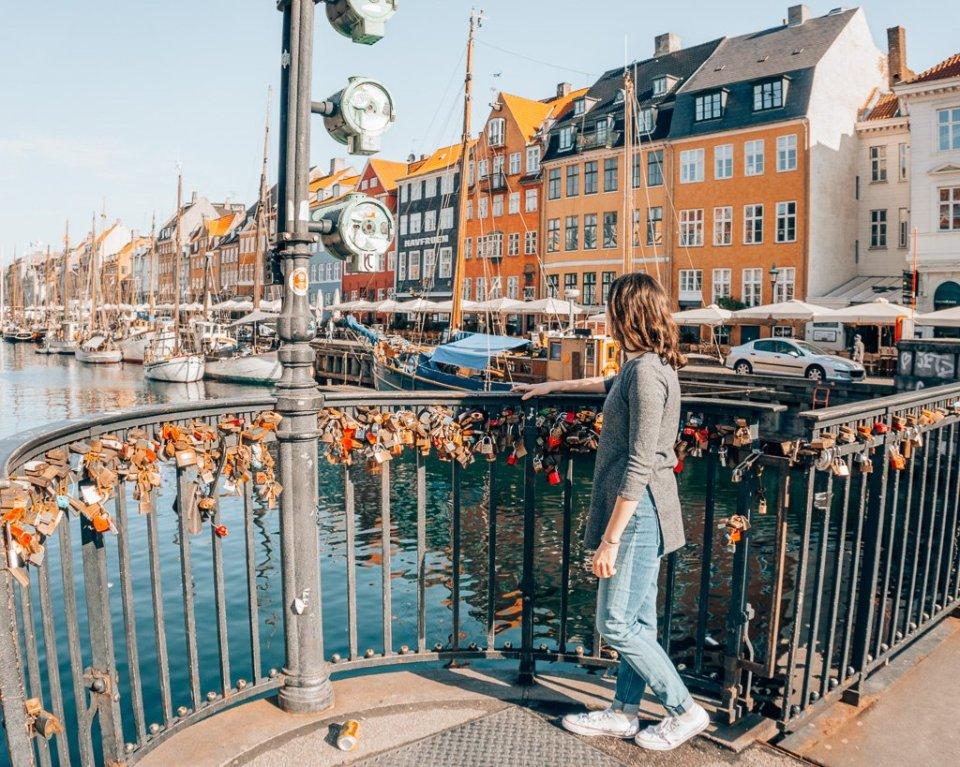 Lock bridge on Nyhavn canal