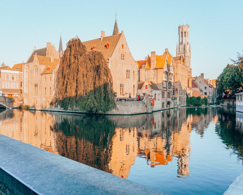 Rozenhoedkaai view in Bruges