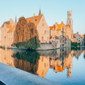 View point in Brugge, Belgium