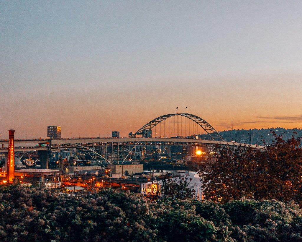 Sunset in Portland