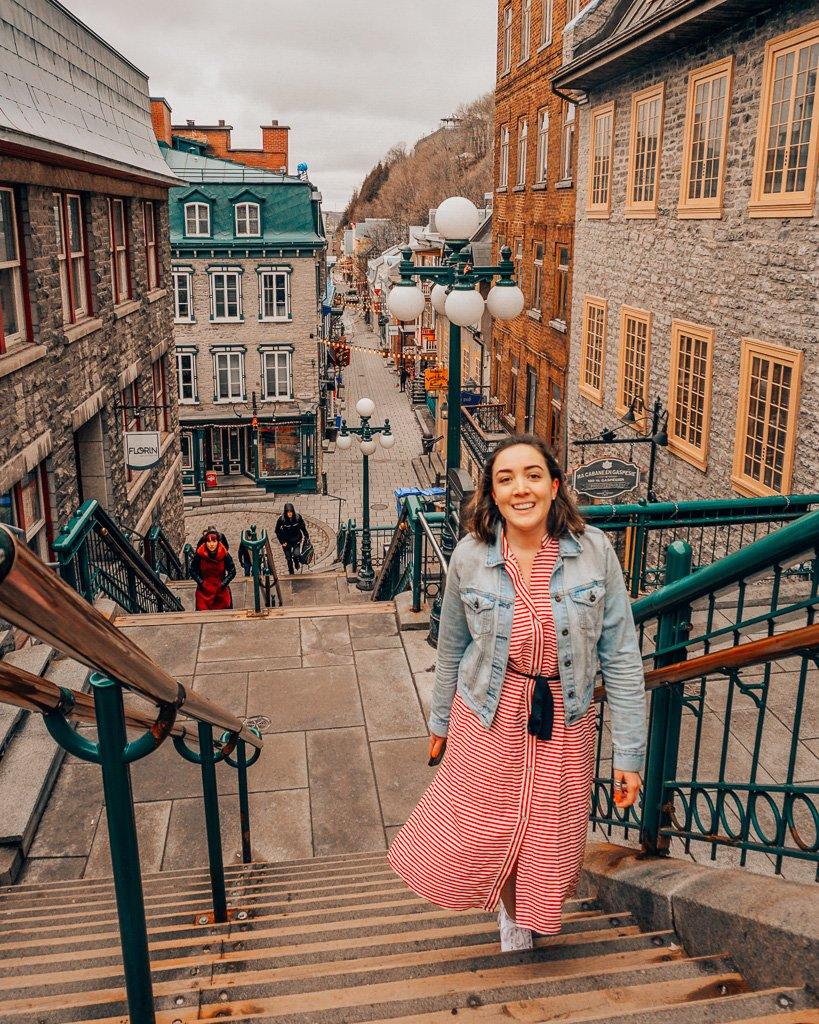 Breakneck steps in Quebec City old town