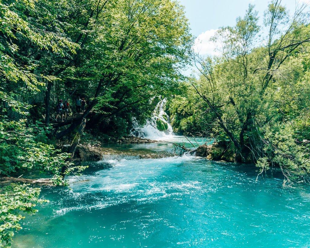 Blue water in Plitvice Park