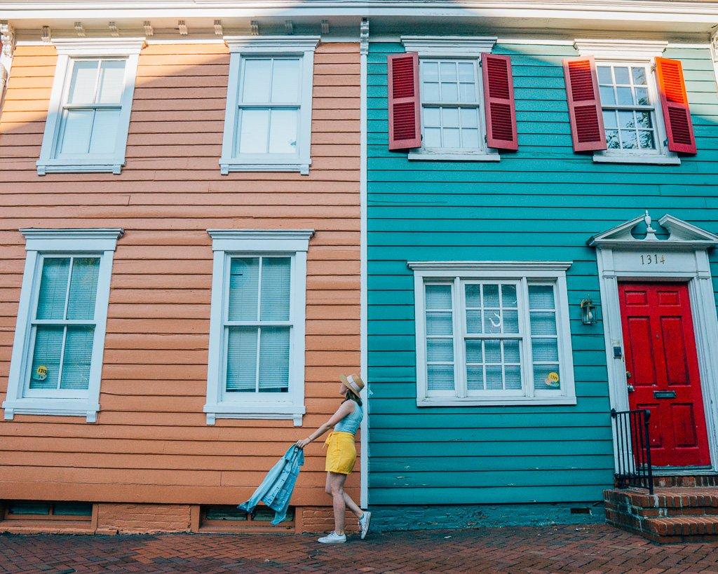 Georgetown houses in Washington, DC