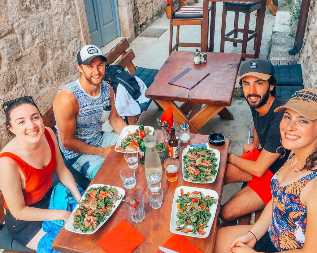 Dinner with 4 people in Hvar