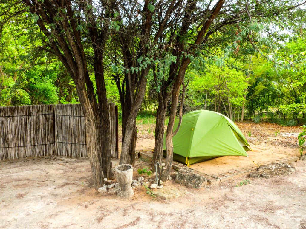 Campsite in Shamvura, Namibia