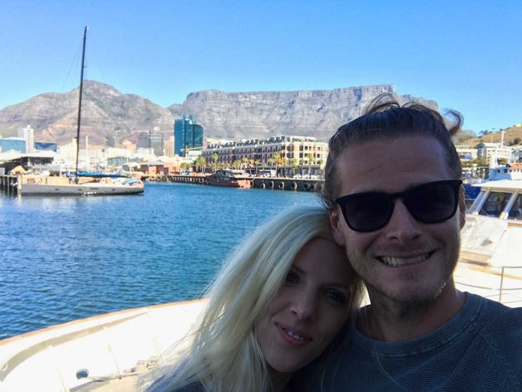 Enjoying the views at the V&A Waterfront