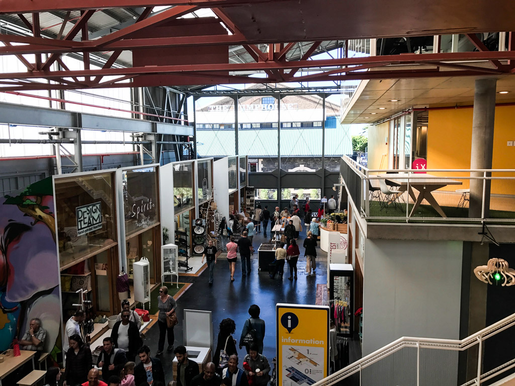 The inside of the Watershed Market at V&A Waterfront