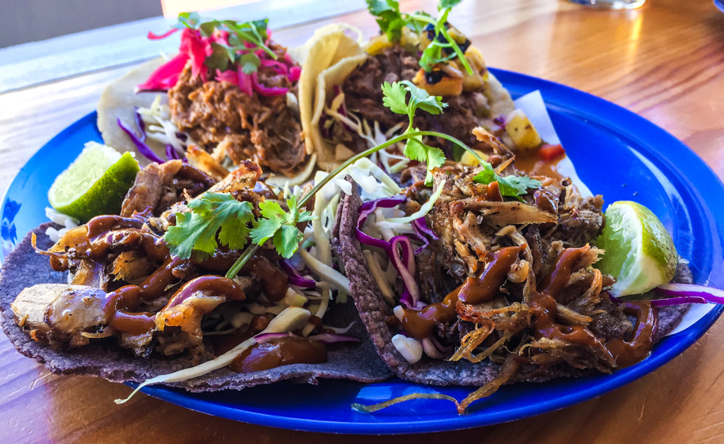 A truly unique offering, the duck taco utilizes a smokey chipotle sauce and blue corn tortillas