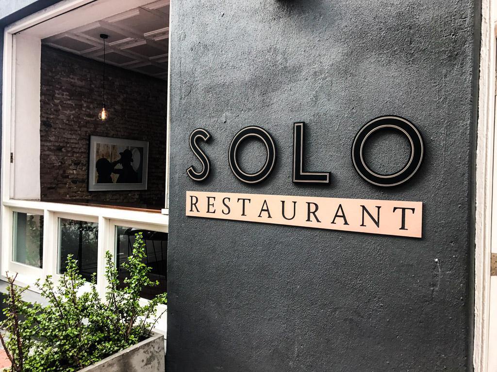 The facade of Solo Restaurant