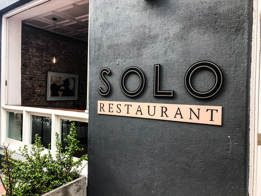 The facade of Solo Restaurant