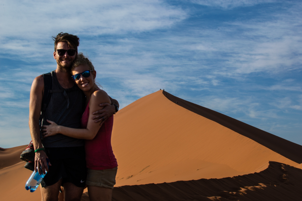 Perfect views at the Sossusvlei Dunes together.