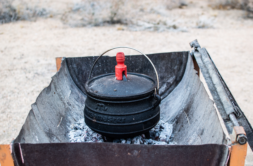 Our beloved potjie pot in action